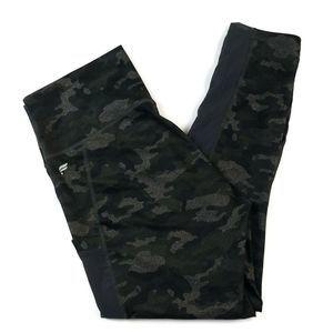 Fabletics Powerhold Leggings SZ M Camo Black Gray